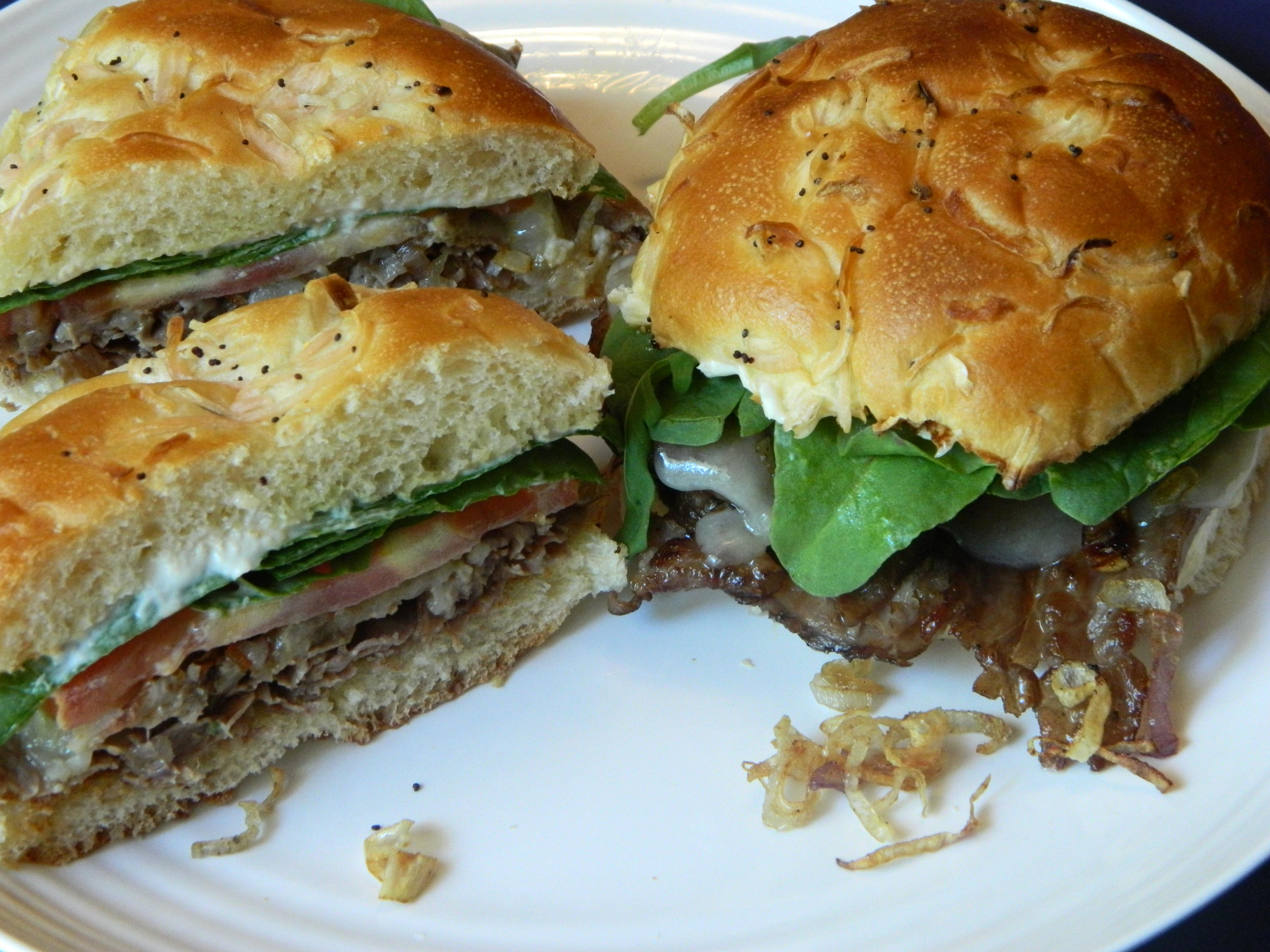 roast beef sandwich with horseradish mayo
